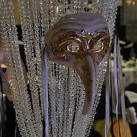 Bead Curtain & Mask Centerpiece
