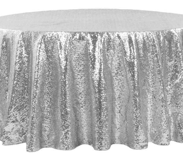 Silver Sequined 6' Round