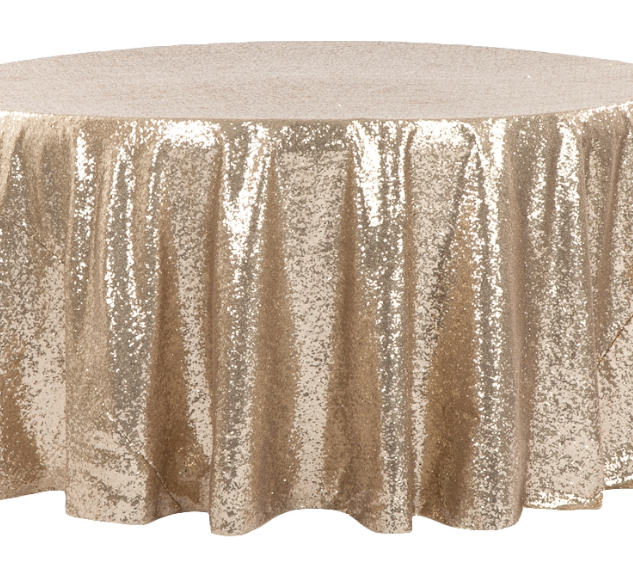 Champagne Sequined 5' Round