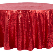 Red Sequined 6' Round