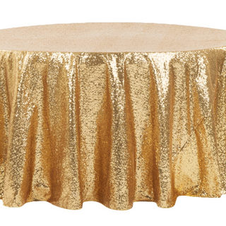Gold Sequined 6' Round