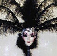 Lighted Feather Centerpiece Masks
