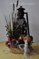 Cajun Lantern Swamp Centerpiece