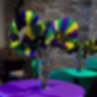 Mardi Gras Stick Mask Centerpiece