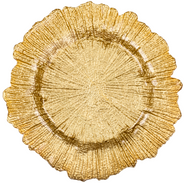 Reef gold charger plate