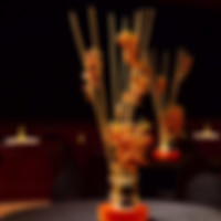 Asian Bamboo Lighted Centerpiece