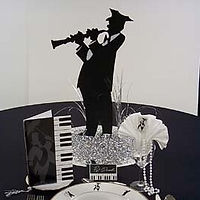 Jazz Silhouette Centerpiece