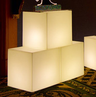 Giant Lighted Cubes