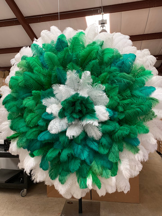 Green and White Feather Flower