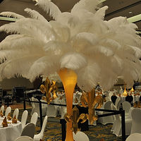 Lighted Feather Mini Tower Centerpiece