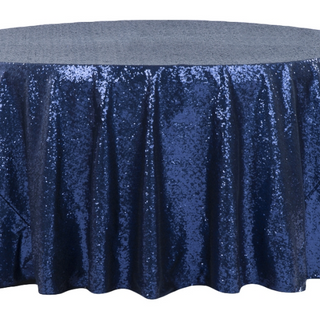 Royal Blue 5' Sequined Round