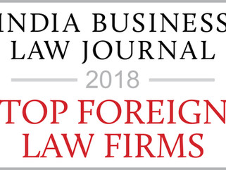 "India Business Law Journal - Collyer Law LLC ranked as ""top international law firm for India-re"