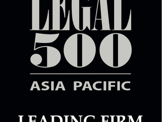 "Ranked as ""Leading Firm"" in Legal 500 Asia Pacific 2020"