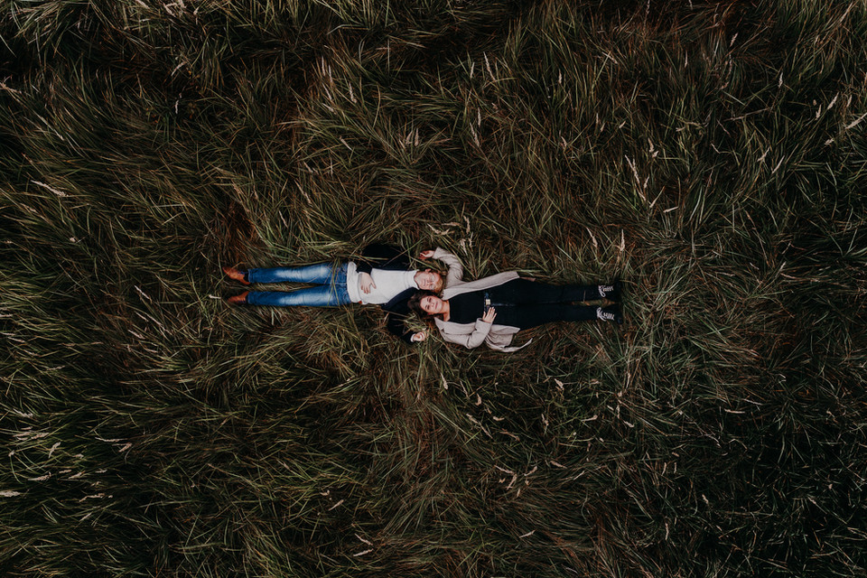 Séance - photo - couple - drone
