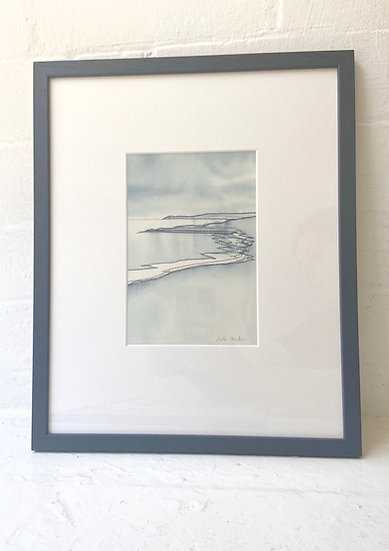 Stillness, Whitepark Bay. Watercolour painting