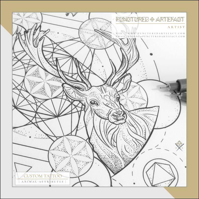 Animal Attributes | Tattoo Design | Punctured Artefact