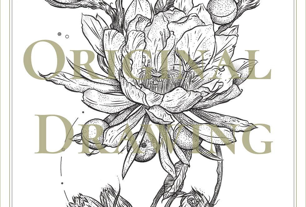 ORIGINAL ART |  Moon Epiphyllum