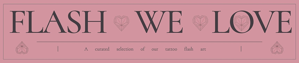 We Love | Curated Selection of Tattoo Flash Designs | Instant Download