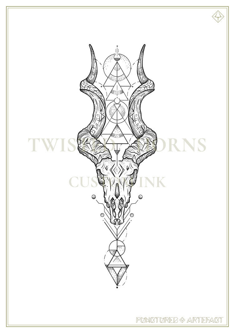 CUSTOM INK | TWISTED HORNS | blackbuck & kudu