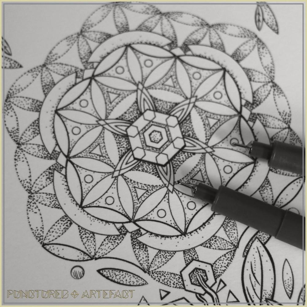 Flower Of Life Stem | Tattoo Design | Punctured Artefact