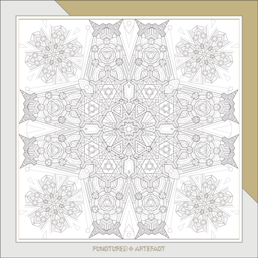 FREE DOWNLOAD | Geometric Pattern Sheet | Sacred Geometry | Mindfulness Art | Punctured Artefact