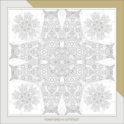 7 Free-Download-Geometric Pattern Line Art for colouring in & mindfulness