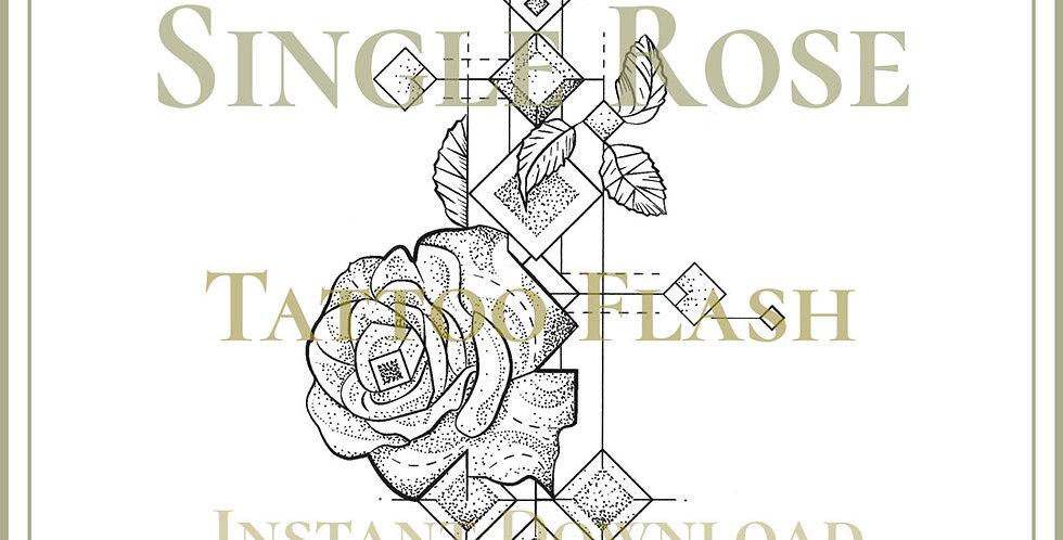 BOTANICAL 43   Single Rose