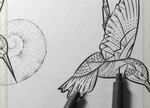 FLASH INK   Hummingbird