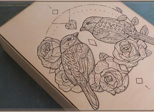 TATTOOED LEATHER | Love Birds