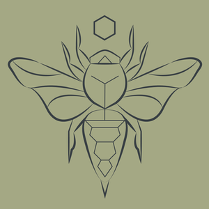Bee Icon | Geometric Nature Art | Vector | Tattoo Illustration