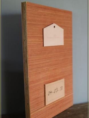 Laminated Wooden Panel | Leather Tattooed Art