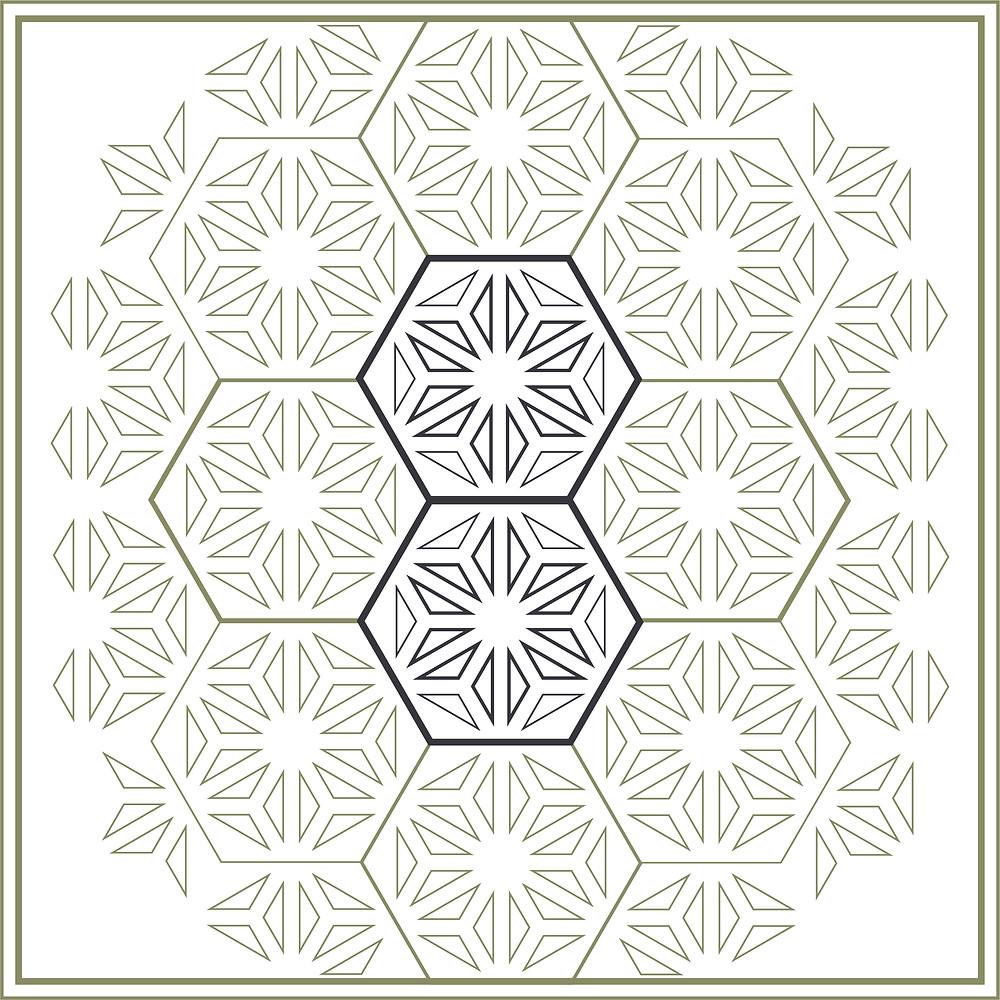 DESIGN | SYMBOLISM | Asanoha | Geometric Symbolism | Punctured Artefact | Art