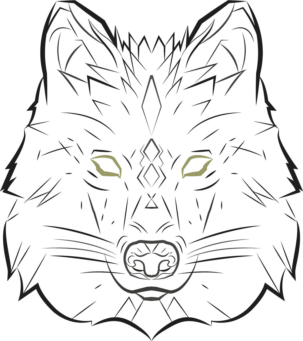 Wolf Vector Art | Punctured Artefact