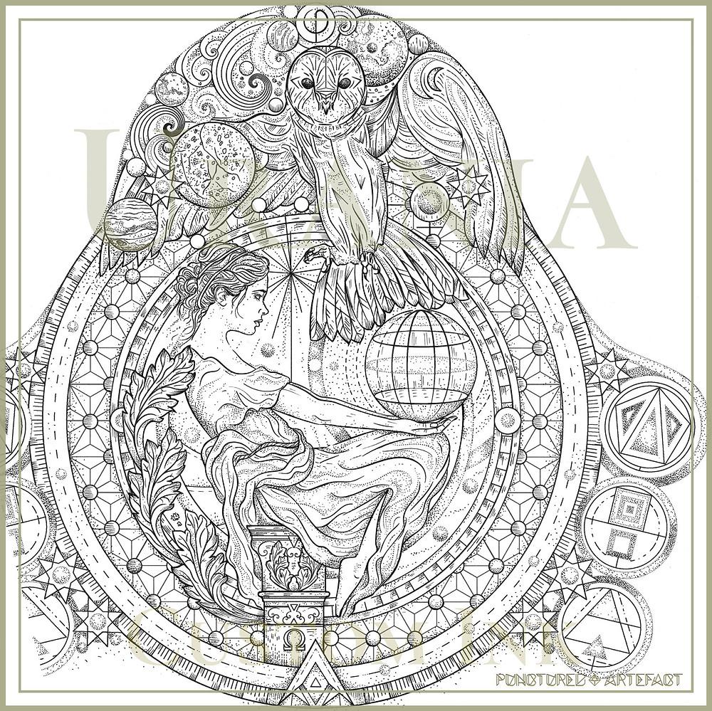 Urania | Half Sleeve Tattoo Design | Punctured Artefact