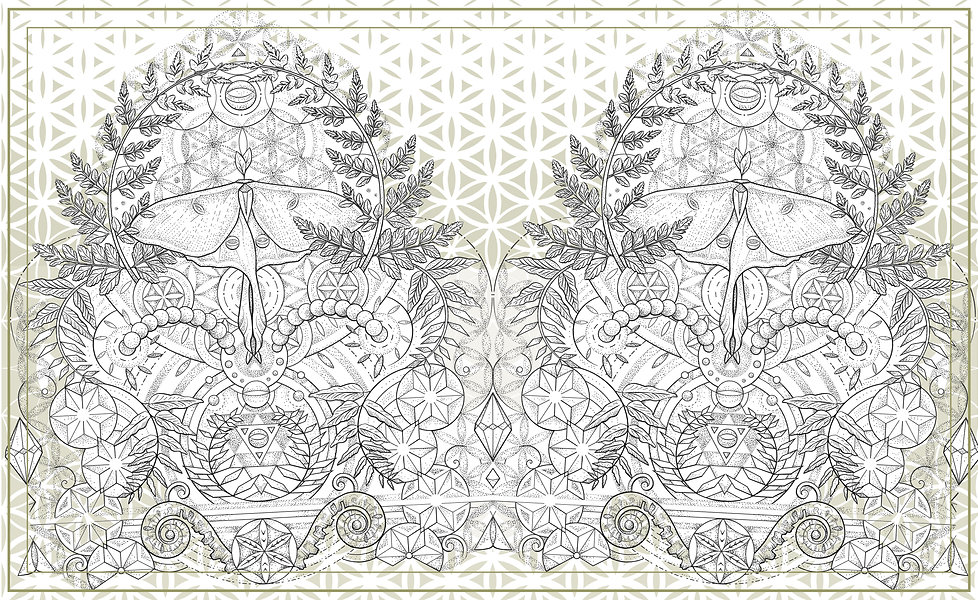 Pen & Ink Dotwork Illustration for Tattoo | Featuring a combination of Sacred Geometry & Nature Art | Blending geometric & organic elements