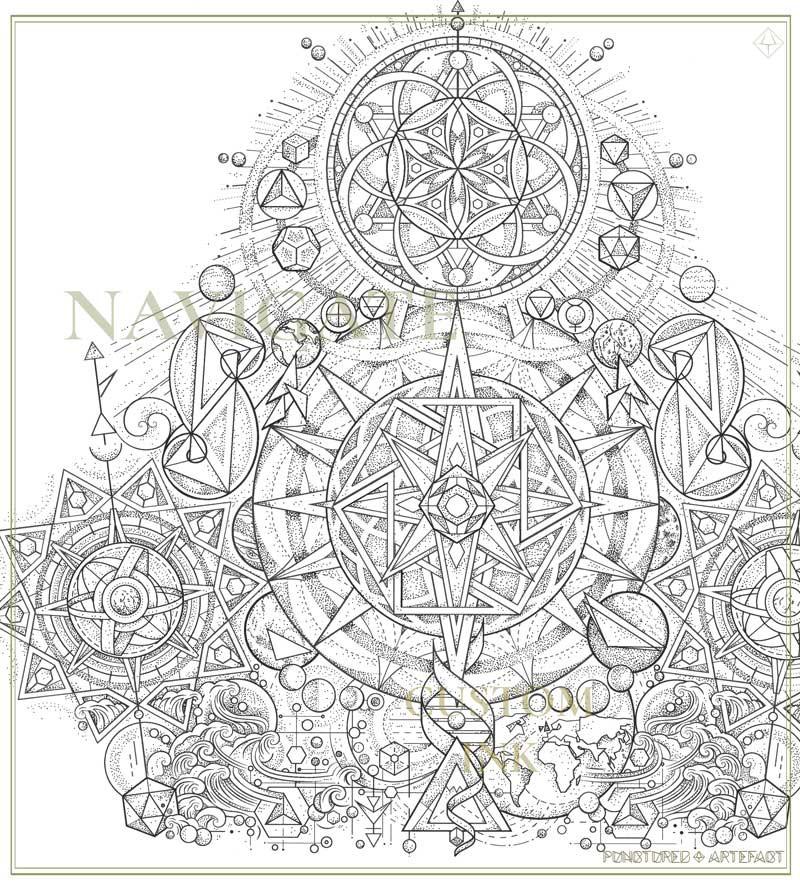   CUSTOM INK   Navigation    Tattoo Design Upper Sleeve   Punctured Artefact