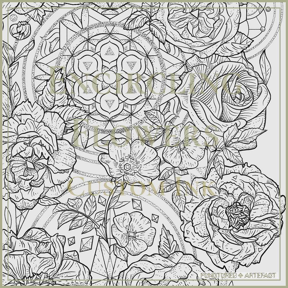 | Encircling Flowers | Custom Tattoo Design | Sleeve