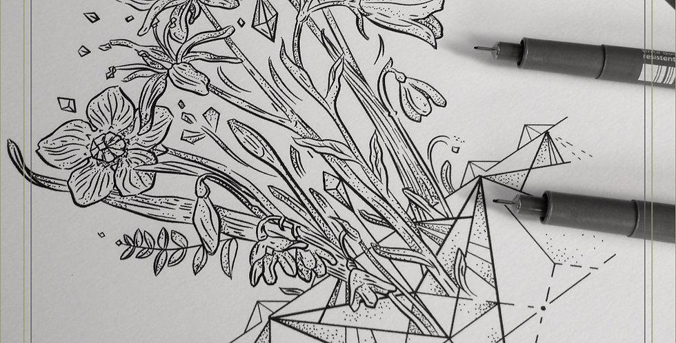 ORIGINAL ART |  Alpine Flowers