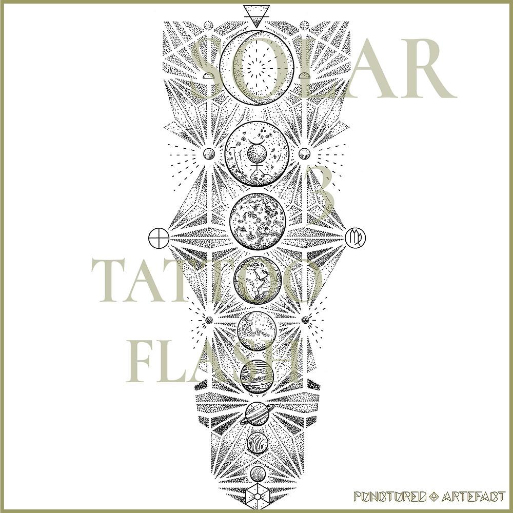 Final Art - Solar 3 - Tattoo Design