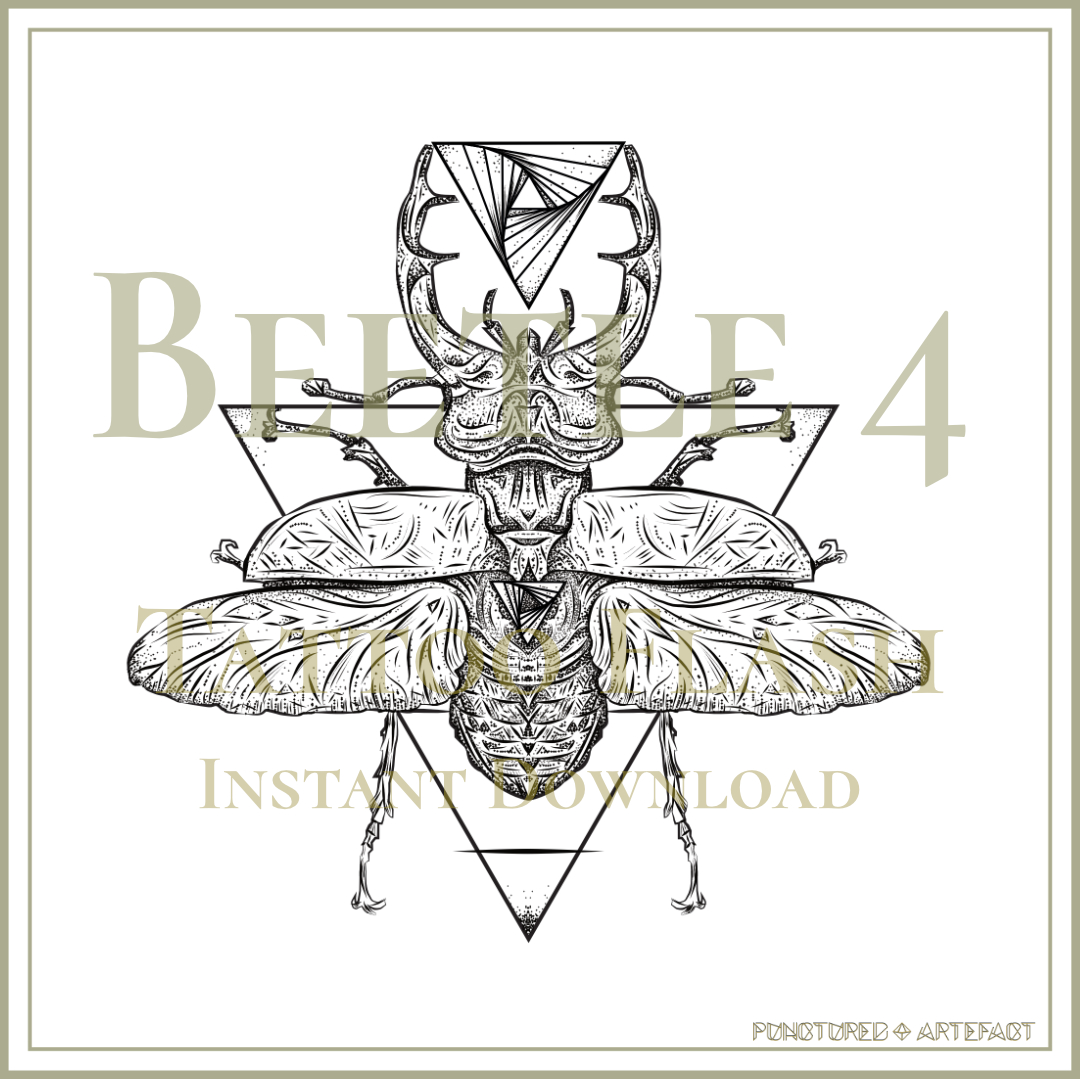 Beetle 5 | Open | Tattoo Flash
