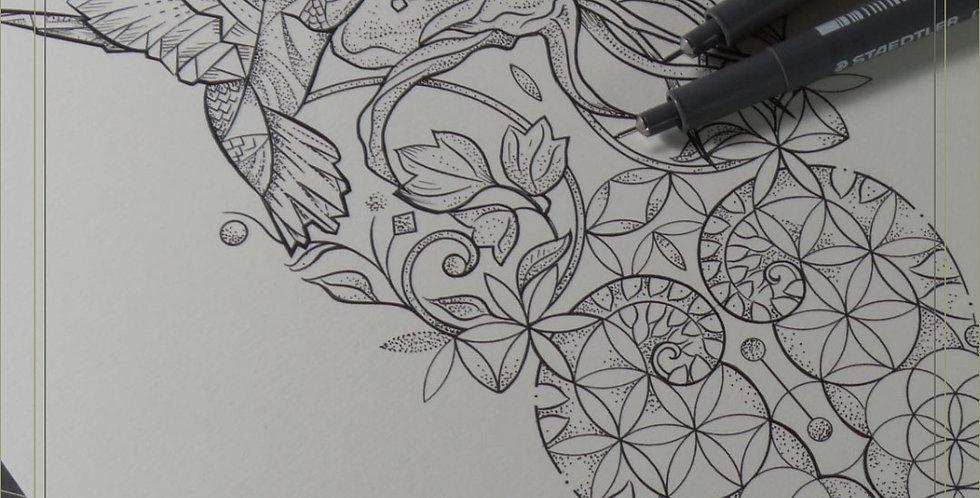 ORIGINAL ART | Hummingbird