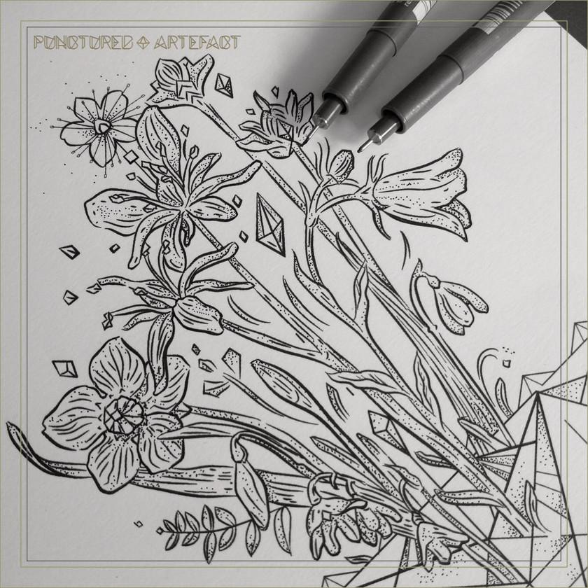 Tattoo Flash | Alpine Flowers