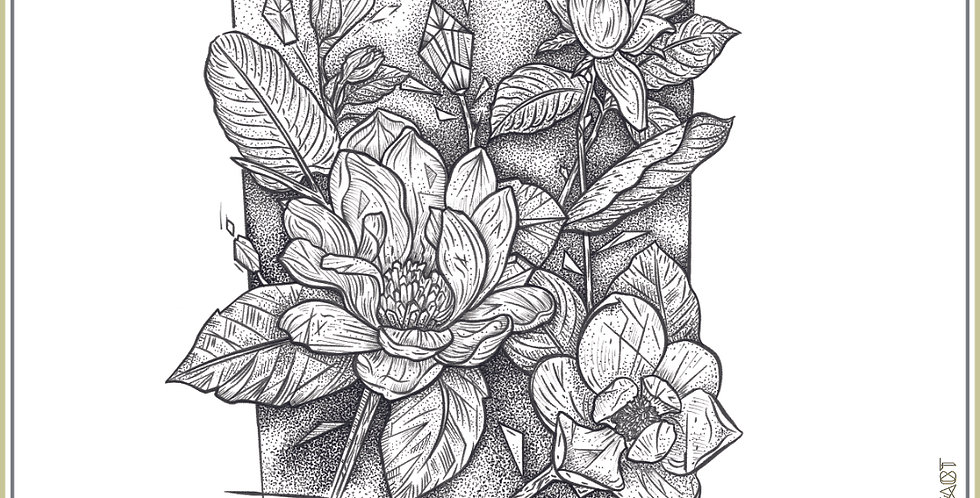 ORIGINAL ART |  Magnolia Stems