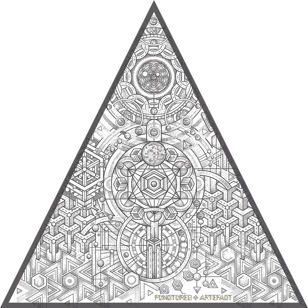   CUSTOM INK   3 WORLDS   (Mega, Macro, Micro) Tattoo Design Upper Sleeve