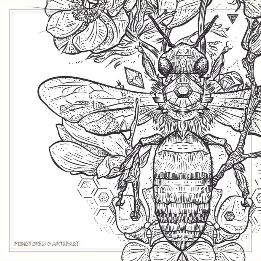 Gratitude Bee   Punctured Artefact
