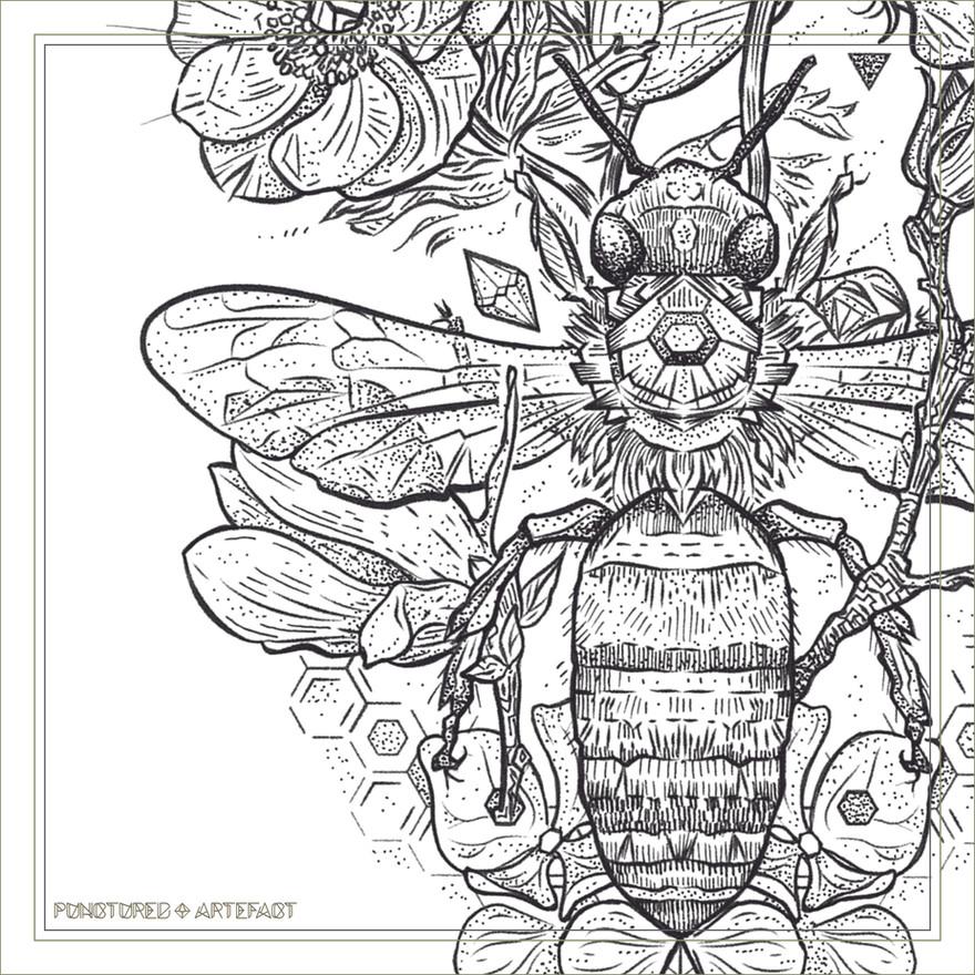 Gratitude Bee | Punctured Artefact