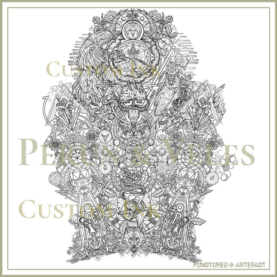 Perun & Veles | Tattoo Sleeve | Symbolic Geometry