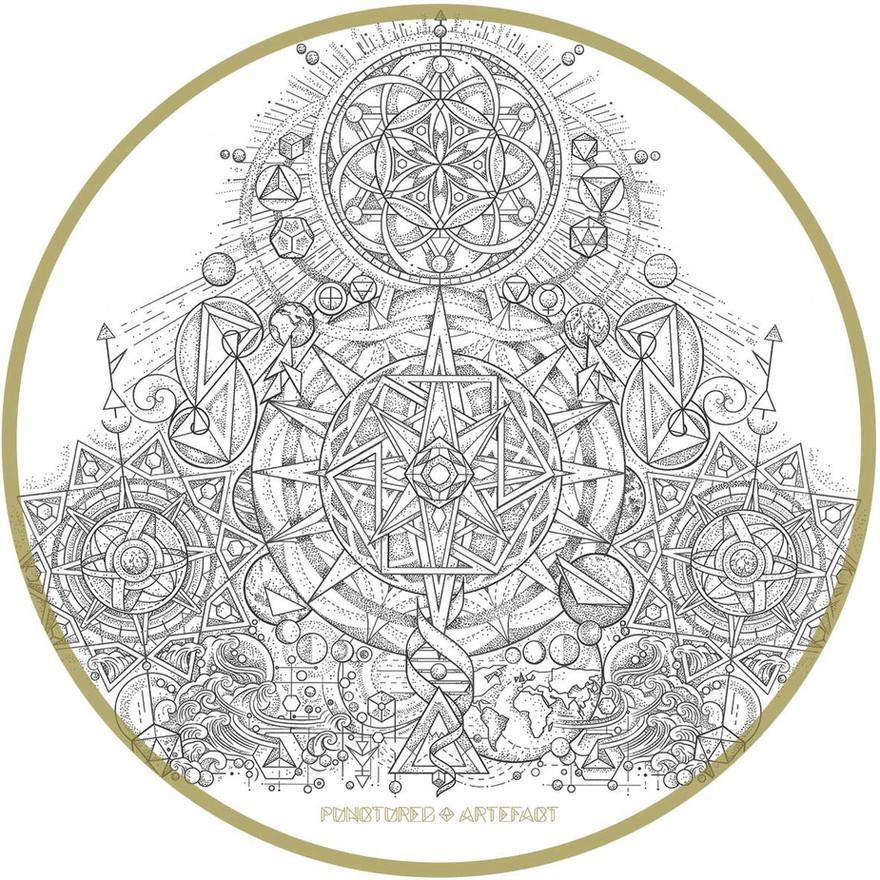 Navigation Tattoo Sleeve | Close Up