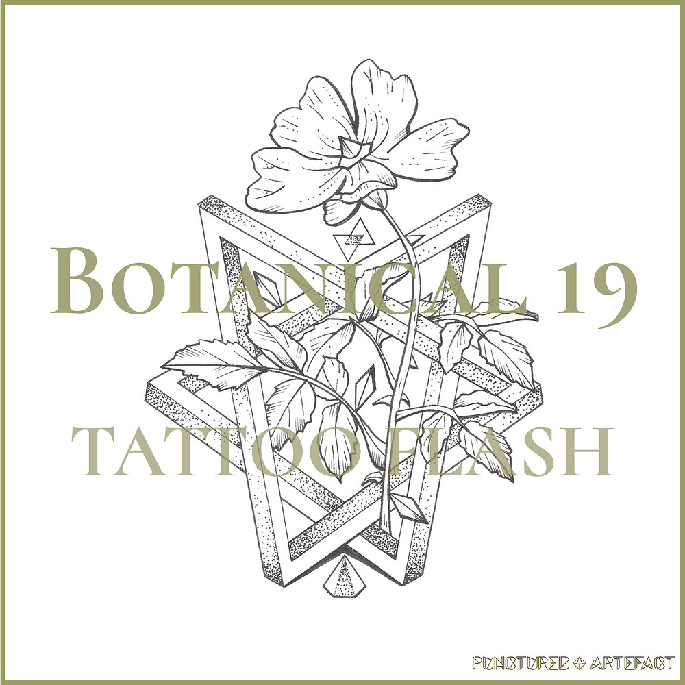 Freedom Rose Tattoo Flash Design