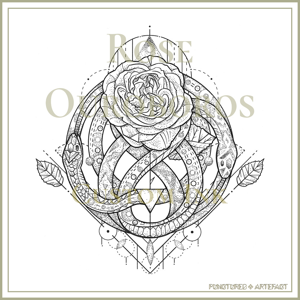Rose Ouroboros | Custom Tattoo Design
